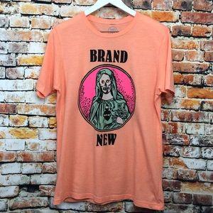 Merch Direct Orange Brand New Band Tee Shirt
